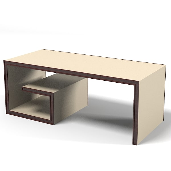 baker modern contemporary scroll cocktail table 7878