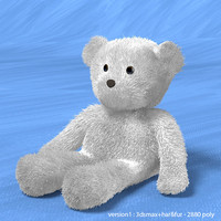 bear toy white 3d model