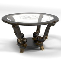 belloni table cocktail 3d model