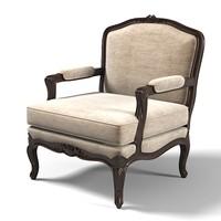 3d bizotto classic armchair model