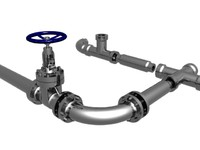 Flange gate, Valve, Pipe joints and Pipes
