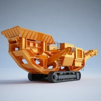 3d model impact crusher construction -