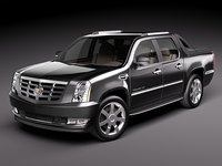 cadillac escalade ext suv 3d model