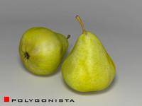 green pear 3d model