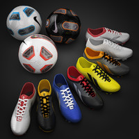 Soccer Shoes and Ball Collection