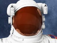astronaut v01 3d model