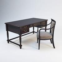3d desk armchair model