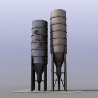 industrial tanks 3d model