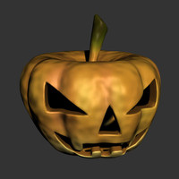 3d model carved jackolantern
