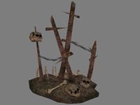 maya pile bones