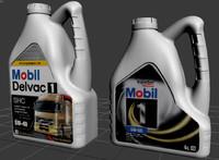 plastic oil bottle 4l 3d model