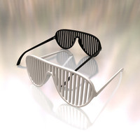 shutter shades sunglasses 3d model