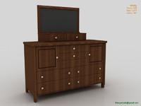 3d bedroom shelf model