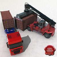 Container Truck and Reach Stacker