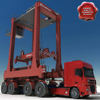 Container Truck and Straddle Carrier