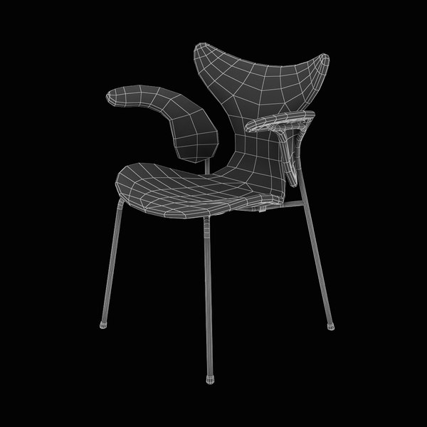 upholstered lily chair 3d model - Lily Upholstered Armchair... by Lajhar