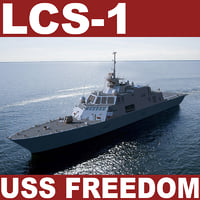 littoral combat ship uss 3d model