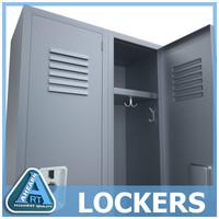 modern locker 3d max
