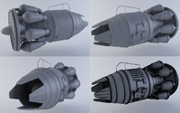 jet engine mkiiib 3d model