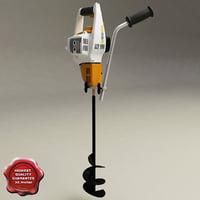 stihl bt 45 drill 3d model