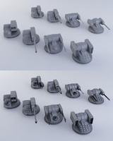 8 Sci-fi Turrets