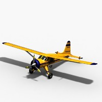 3d dehavilland dhc2 beaver havilland model