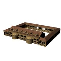 courtyard rome 3d model