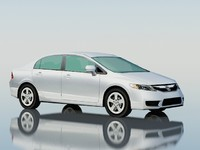 3ds max honda civic sedan