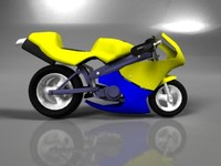 bike minibike deformed 3d model