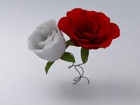 roses 3d 3ds