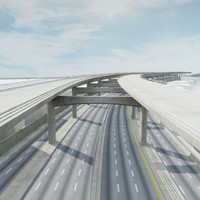 3d model freeway road