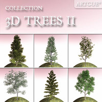 3d tree high-poly billboard