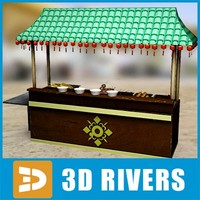 chinese fast food buffet 3d model