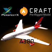 pre-rigged airbus a380 craft 3d 3ds