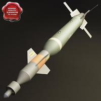 aircraft bomb gbu-10 paveway 3d max