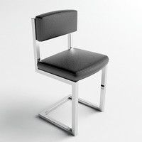 Chrome & Leather Chair - Vray & Mental Ray Materials