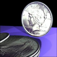 3d model silver peace dollar