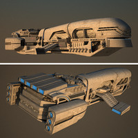 3d spaceship space ship model