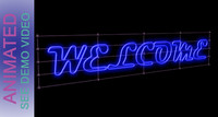 animated neon sign board