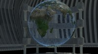 holographic earth 3d model
