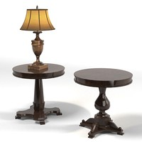 classic lamp table round
