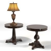 classic lamp table 3d model
