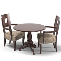 classic round dining game card table chair armchair set