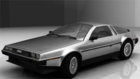 delorean car 3d model