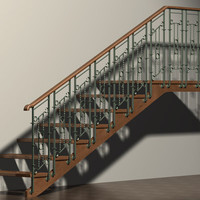 3ds max stairs wrought iron railing