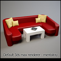 3ds max modern lounge