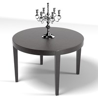 meridiani power round dining tabe  modern contemporary