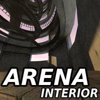 Sci Fi Interior Building Arena