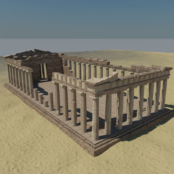 how to build a model of the parthenon