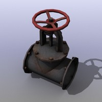 low-poly gas valve 3d model